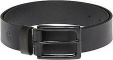 Timberland Mens Genuine Leather Classic Jean Belt Black