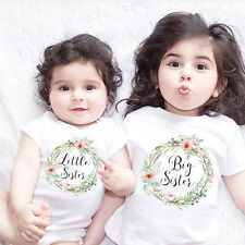 Baby Kids Girl Little Big Sister Match Clothes Jumpsuit Romper Outfits T Shirt
