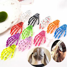 10pcs Halloween Party Zombie Skull Skeleton Hand Bone claw Hairpin Hair Clip