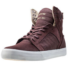 Supra Skytop Mens Trainers Red Mahogany New Shoes
