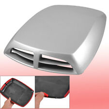 Decorative Silver Tone Scoop Vent Cover Air Flow Hood for Car Auto