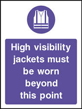 High Visibility Jackets Signs