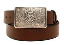 Ariat Western Mens Belt Leather Ariat Logo Buckle Brown A1020202-Size 44