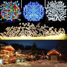 New 200 LED String Solar Powered Fairy Lights Garden Party Christmas Outdoor