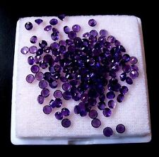 1mm to 10mm Natural Amethyst Round Calibrated Sizes Purple Color Loose Gemstones