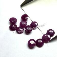 3mm to 10mm Natural Ruby Faceted Cut Round Calibrated Size Red Color Gemstone