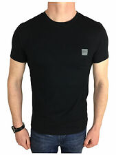 Hugo Boss Mens Orange Label Logo Branded T-Shirt in Black