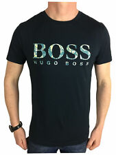 Hugo Boss Mens Orange Label Logo Branded T-Shirt in Navy