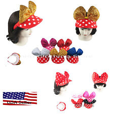 3pc Baby Toddler Girl Minnie Mouse Bow Dot Hats Summer Cap Visor Lot 6-24 Months
