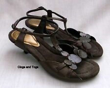 NEW CLARKS TOCCATA WOMENS BROWN LEATHER SANDALS SIZE 4 / 37