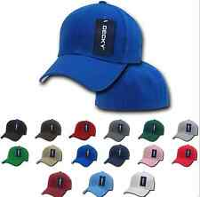 Mens Plain Fitted Pre Curved Bill 6 Panel Baseball Hats Hat Caps Cap Many Sizes