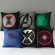 "17"" Marvel Avengers Superheroes Home Decorative Throw Pillow Case Cushion Cover"