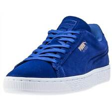 Puma Suede Classic Debosseed Mens Trainers Dark Blue New Shoes