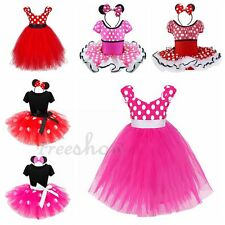 Girl Minnie Mouse Cosplay Tutu Dance Dress Xmas Party Fancy Costume Outfit12M-10