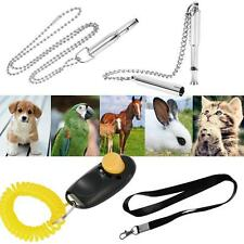 Dog Cat Training Ultrasonic Whistle Lanyard Sound Pet Clicker Obedience Hot I6T8