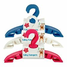 BABY TODDLER CLOTHES COAT HANGERS WHITE PINK BLUE NURSERY WARDROBE SPACE SAVE