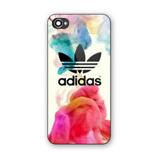 Adidas Logo Colorful Smoke Print Hard Plastic Case For iPhone 5s 6 6s 7 8 (Plus)