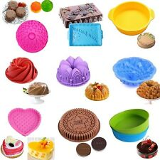 Large Silicone Cake Mold Pan Muffin Chocolate Pizza Pastry Baking Tray Mold Tool