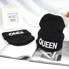 King Queen Beanie Winter Hats Cap Men Women Stocking Hat Knitted Hiphop Hat FG