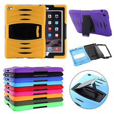 Hybrid Silicone Shockproof Heavy Duty Skin Case Stand for iPad Samsung Tablets