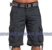 AFFLICTION Payback 110WS134 Men`s New Charcoal Cargo Shorts