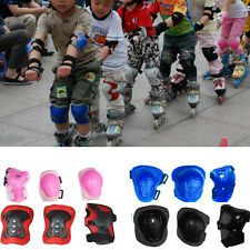 6Pcs Kids Skating Knee Elbow Wrist Palm Protection Pad Guard Gear Protect Safety