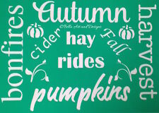 Assorted Fall/Autumn Stencils - **Free gift with every order**