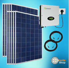 2500 Watt Plug -and-Play Solar system Photovoltaic Complete for the Sockets
