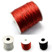 200yds/Roll 1mm Korean Waxed Polyester Cords Stringing Threads Black/Red/White