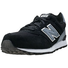 New Balance Kl574cup Kids Trainers Black Grey New Shoes