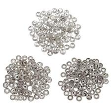 100pcs DIY Tibetan Silver Spacer Beads fit Jewelry Charm Bracelet Necklace Chain