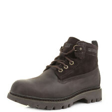 Womens Caterpillar Melody Chocolate Dark Brown Leather Boots Shu Size