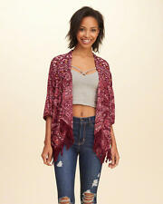Abercrombie & Fitch - Hollister Womens Kimono Blouse Top Jacket M Burgundy NWT