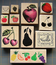 """FRUIT"" RUBBER STAMPS ~ FUN FRUIT HARVEST THEME STAMPIN UP & MORE ~ YOU PICK"