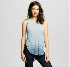 MOSSIMO Women's Sleeveless Split Side Tank Top Blue Ombre  Multiple Sizes NWT