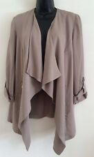 New Ex M&Co Taupe Smart Tailored Work Casual Day Blazer Jacket Size 10-22