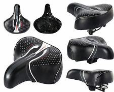 Big Wide Unisex Bum Bike Bicycle Cycle Extra Comfort Soft Saddle Seat 3 Size