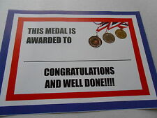 LATIN DANCING MEDALS X 10 METAL/50MM /GOLD -SILVER OR BRONZE/ CERTIFICATE/ CARDS
