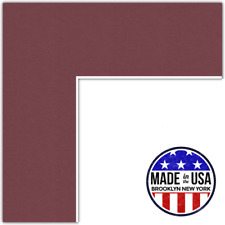 ArtToFrames Custom Red Maple Leaf Picture Photo Frame Mat Matting Board
