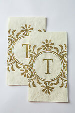 Cypress Home Embossed Monogram T Paper Guest Napkin, 90 count