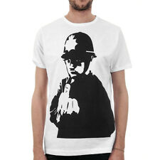 BANKSY, Finger Police, Rude Copper / Mens, White, T-Shirt