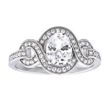 Sterling Silver Oval Cubic Zirconia Women's Jewelry Wedding Engagement Ring