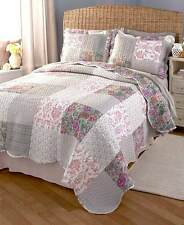 3-Pc Reversible Patchwork Quilt Shams~Queen/Full or King Size Home Bedroom Decor