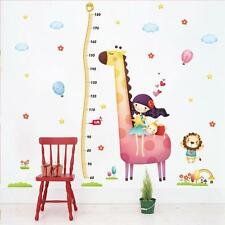 Removable Height Chart Wall Sticker Reusable Wallpaper Decal Room Decor Hot W4B1