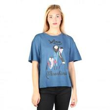 Love Moschino Clothing Women T-shirts Blue 74776 Outlet BDX