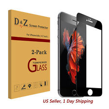 """2x For iPhone 6s 4.7"""" 3D Curved Full Cover Tempered Glass Screen Protector Film"""