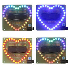 New DIY Kit Heart-shaped LED Red Blue Colorful Light Water Electronic VE