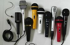 MICROPHONES for SINGERS, DJs, KARAOKE ~ click on - SELECT - to browse or order