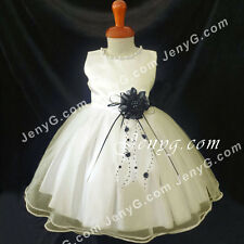 NLIBK7 Baby Girls Holiday Destination Confirmation Formal Party Prom Dress Gown