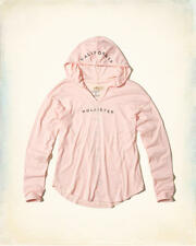 Abercrombie & Fitch – Hollister Womens T-Shirt Tee Hooded Logo XS Pink NWT